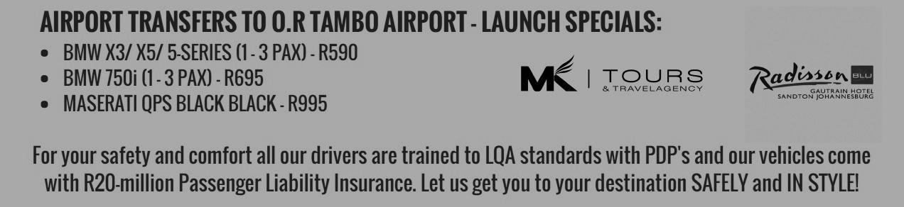 Launch Offer JHB